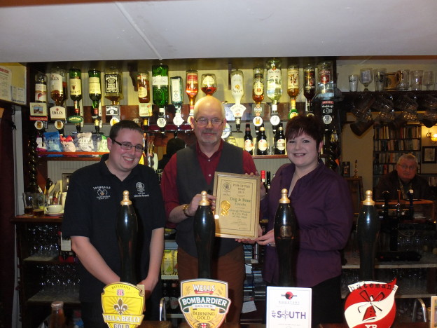 Dog and Bone wins CAMRA Pub of the Year for the second year running!