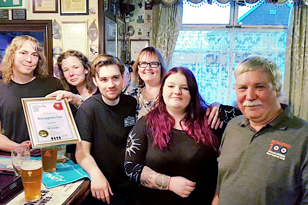 Lincolnshire Pub of the Year presentation